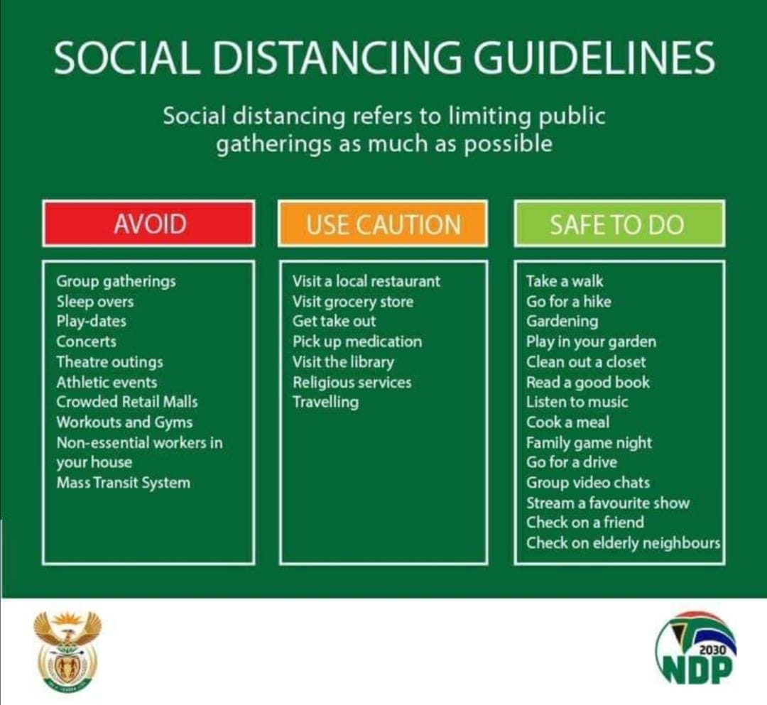 COVID-2019: Social Distancing Guidelines
